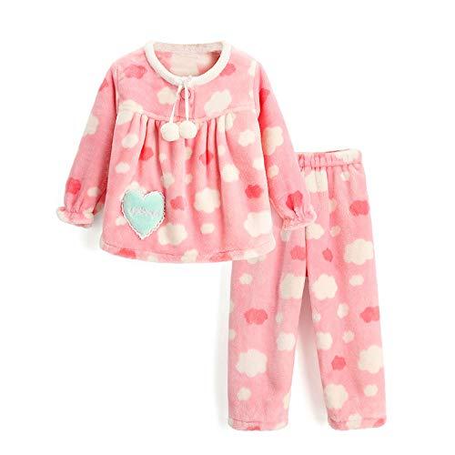 Kinderpyjama's, meisjes flanel cloud-pyjama's in de herfst en winter dragen, de verdikking van kinderservies pak kinderen pyjama