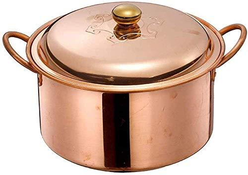 Pentole da cucina Pentole Casseruola Pentola per zuppa fatta a mano pentola per zuppa di rame pentola per stufato fornello a gas per approfondire pentola di rame spessa -26cm