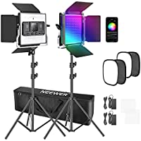 2-Pack Neewer Photography Video Lighting Kit with APP Control
