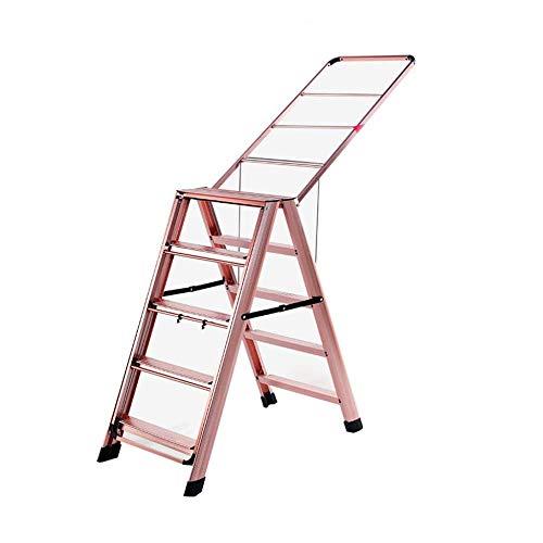 yjll Telescoping Ladders Uitbreiding Ladder Stap Ladder Thuis Multifunctioneel Droogrek Vloer Vouwen Aluminium Dikke Droogrek 5step