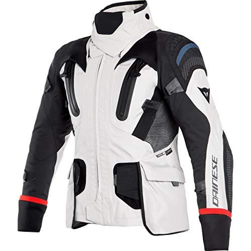 Dainese Motorradjacke mit Protektoren Motorrad Jacke Antartica GTX Textiljacke grau/schwarz/rot 48, Herren, Tourer, Ganzjährig