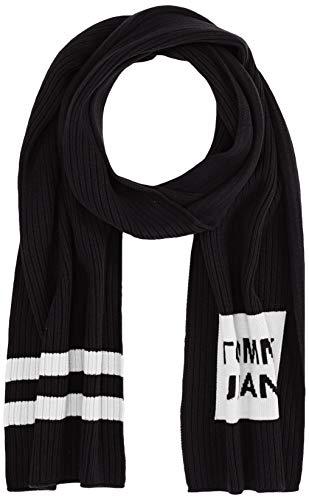 Tommy Hilfiger Rib-Knit Logo Scarf Sciarpa, Nero (Black Bds), Unica (Taglia Produttore: OS) Uomo