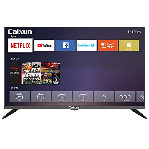 Caixun C32 32' Inch 720p Smart LED TV, Built-in with HDMI, USB, High Resolution and Digital Noise...