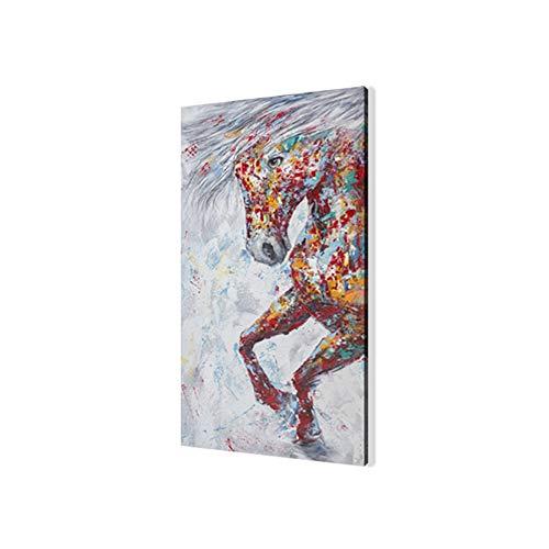Cuadro En Lienzo,Impresiones De La Lona Arte De La Pared,Caballos Corriendo Pintura Impresa Animal Salvaje Impermeable Lienzo Carteles Pared Arte Imagen Decoración De Sala De Estar 50x150cm(Sin Marco)