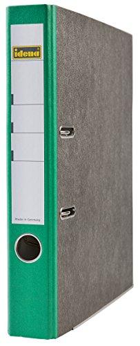 Idena 303069 - Ordner für DIN A4, 5 cm breit, FSC-Mix, Wolkenmarmor, grün, 1 Stück