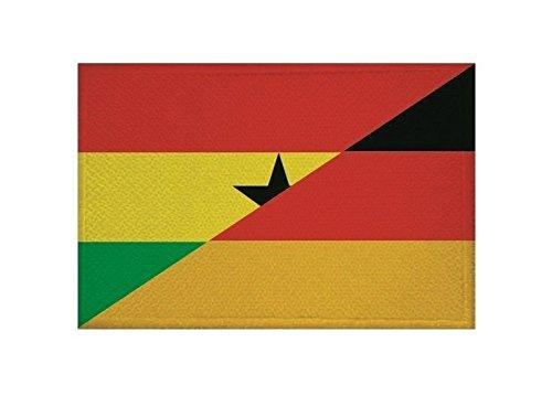 U24 Aufnäher Ghana-Deutschland Fahne Flagge Aufbügler Patch 9 x 6 cm