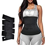 19ft Invisible Wrap Waist Trainer for Women Plus Size Tummy Control Belt Long Slimming Band Underwear Body Shaper Black…