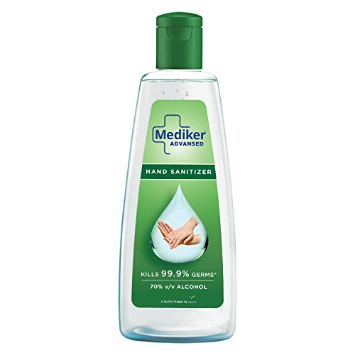 Mediker Hand Sanitizer,70 % Alcohol Based Sanitizer 500 ml