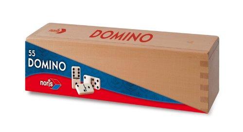 Noris 606100044 - Double Six Urea Domino Steine, 55 Stück