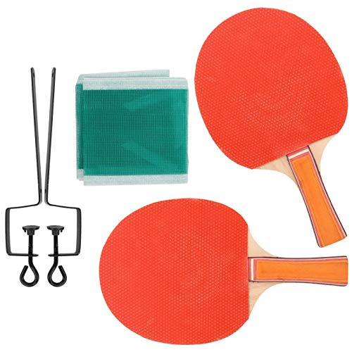 DAUERHAFT Juego de Ping Pong de Bate de Paleta Robusto de Alta Durabilidad Equipo Deportivo Cubierta de Doble Cara Tenis de Mesa de Entrenamiento para Uso en Interiores o(Table Tennis Racket Set)