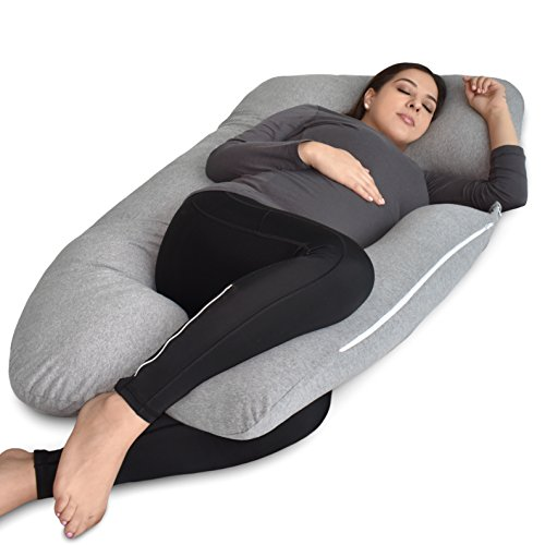 PharMeDoc Pregnancy Pillow, U-Shape Full Body Pillow and Maternity Support with Detachable Extension...