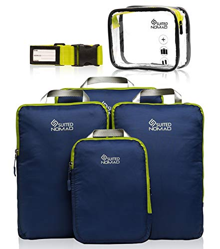 SUITEDNOMAD Compression Packing Cubes SetUltralight Travel Organizer Bags
