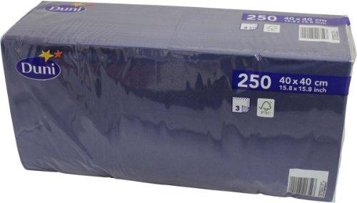 Duni 250 Zelltuch Servietten Dunkel-Blau 40cm x 40cm