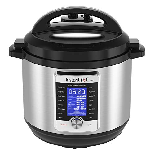 Instant Pot Ultra 80 Ultra 8 Qt 10-in-1 Multi- Use Programmable Pressure Cooker, Slow Cooker, Rice Cooker, Yogurt Maker, Cake Maker, Egg Cooker, Sauté, and more, Stainless Steel/Black