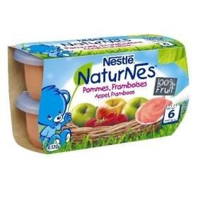 Nestlé naturnes bol fruit compote de pommes framboises 4 x 130g dès 6 mois