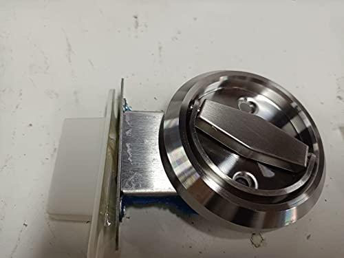 Les-Theresa Home Baño Cerradura de doble cara 304 Acero inoxidable Manija de anillo Accesorios de cerradura de puerta(Plata (con candado))