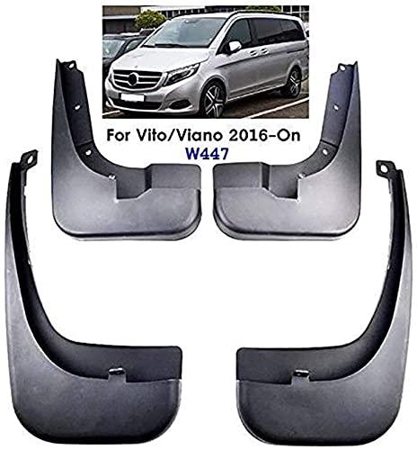 Coche Faldillas Antibarro para Benz Metris Vito V-Class W447 2016-2019, Delantero Trasero Guardabarros De Goma Fender Set Accesorios con Instalación De Clavos