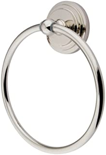 Kingston Brass BA2714PN Milano 6-Inch Towel Ring, Polished Nickel