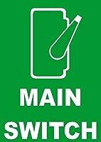 メインスイッチ。金属スズサイン通知街路交通危険警告耐久性、防水性、防錆性