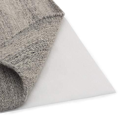 RBANARA Teppichunterlage - rutschfeste Unterlage in Creme aus 100% Polyester - 60 x 170 cm. Antirutschmatte/Teppichstopper/Teppichunterleger geeignet für Fußbodenheizung
