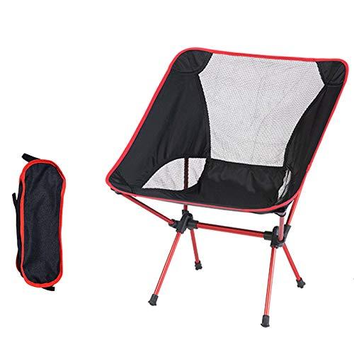 snmi Ultraleichter tragbarer klappbarer Campingstuhl mit Rucksack, atmungsaktiv, bequem, perfekt für den Außenbereich, Camping, Wandern, Picknick
