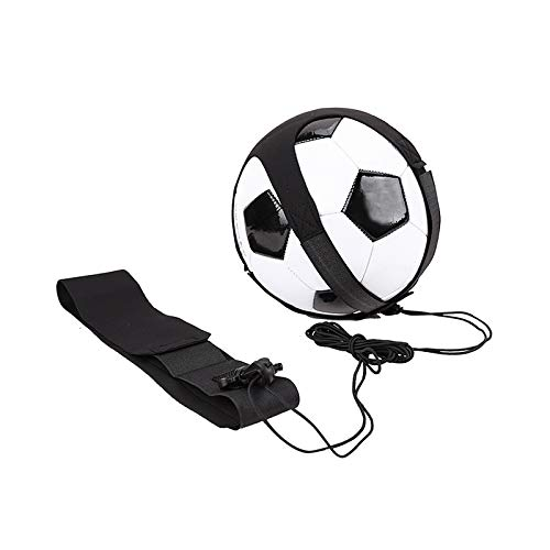 Soccer Football Trainer Hand Free Solo Practice Training Equipment Aid Control Skills Adjustable Waist Belt - Fits Ball Size 3, 4, and 5
