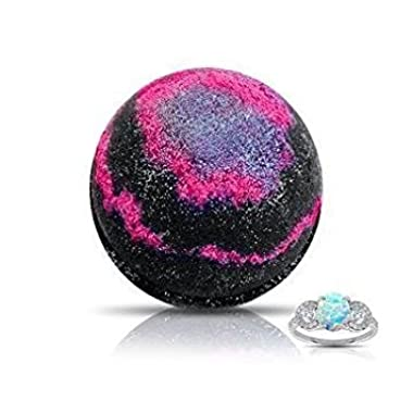 GALAXY RING Bath Bomb by Soapie Shoppe/ Choose your Size/ Rings are an ASSORTMENT OF STERLING SILVER and Gold Plated Sizes 5-9 USA/ 15-19 UK (SURPRISE SIZE 5-9)