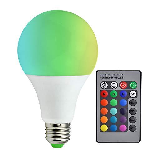 Kleurwisselende heldere LED-lamp E27 met afstandsbediening