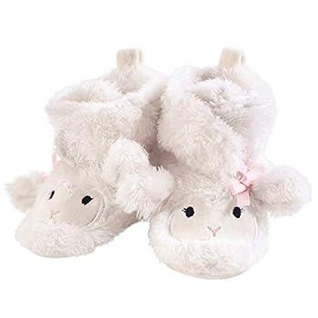 Hudson Baby Unisex Baby Cozy Fleece and Sherpa Booties Girl Lamb 6-12 Months