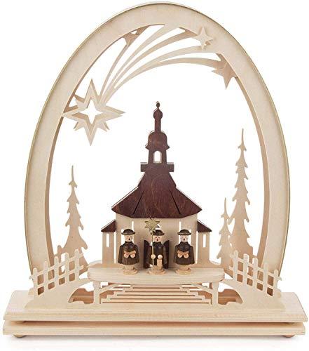 Rudolphs schatkist raamafbeelding elektrisch Ertsgebergte winterkinderen BxHxD 31x33x6cm NIEUW Ertsgebergte raamdecoratie raamdecoratie