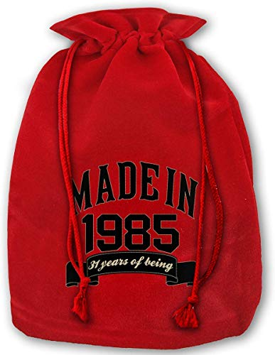 Made in 1985 31 Years of Being 31th Birthday Christmas Gift Bags Drawstring Bags Santa Sack Backpack for Party Favors Gifts and CandyMade in 1985 31 Years of Being 31th Birthday