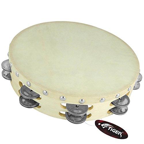 Tiger 10' Double Row Wood Tambourine