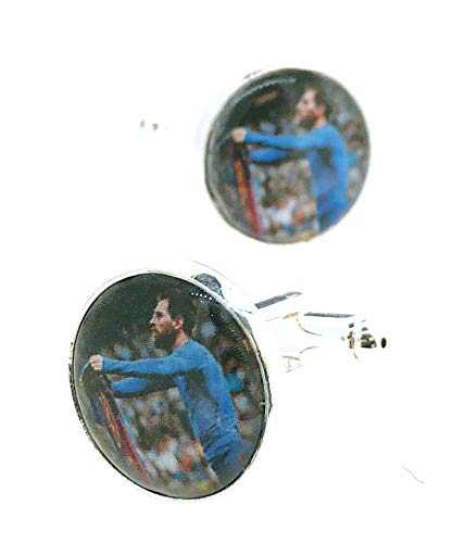 Gemelolandia | Gemelos para Camisa Lionel Messi Gemelos Originales Para Camisas | Para Hombres y Niños | Regalos Para Bodas, Comuniones, Bautizos y Otros Eventos
