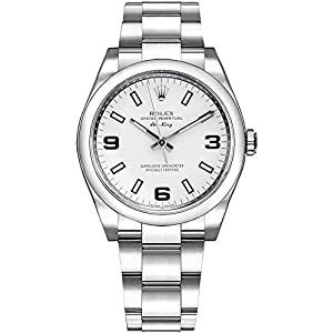 Fashion Shopping Rolex Oyster Air-King 114200 White Dial Stainless Steel Case