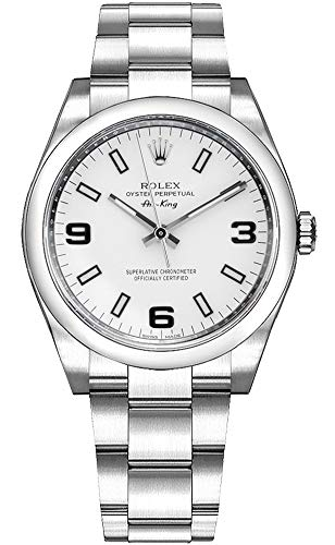 Rolex Oyster Air-King 114200 White Dial Stainless Steel Case and Oyster Bracelet