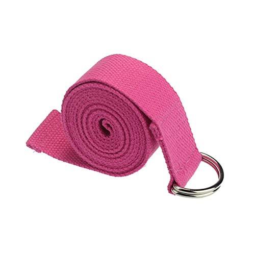 Longra yoga-strap, 180 cm, yoga, strap, D-ring, riem, taille, benen, yogamat, draagriem, antislip, duurzaam, katoen, yoga, riem verstelbaar