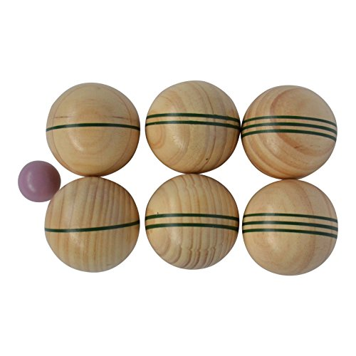 Traditional Garden Games TGG127 Wooden Boule Toy, Wood, 6.5/3 cm