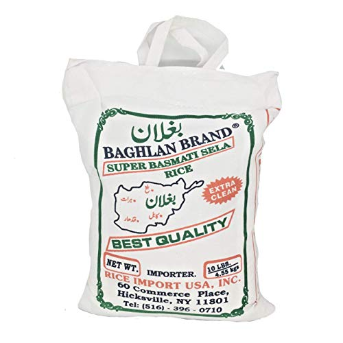 Baghlan Brand Super Basmati Sela Rice Extra Clean 10 Lbs رز بسماتي بغلان سوبر ممتاز