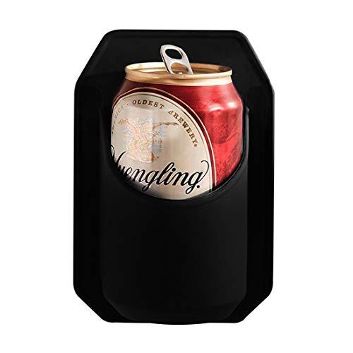 GENNISSY - Porta bicchieri da doccia in ABS per birra in scatola, ABS., Nero , Taglia unica