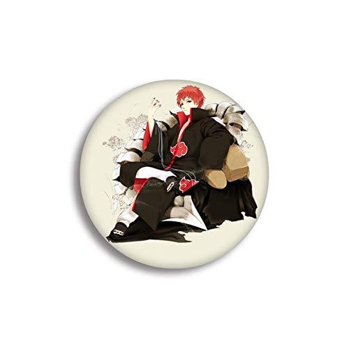 Insignia de Anime Insignia de Naruto I Love Luo Costilla de adivinación Insignia de Naruto Broches para mujeres Colgante Pin-Rojo