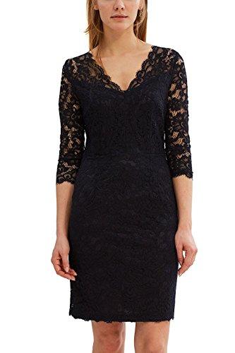 ESPRIT Collection Damen 027EO1E043 Kleid, 400/NAVY, 40
