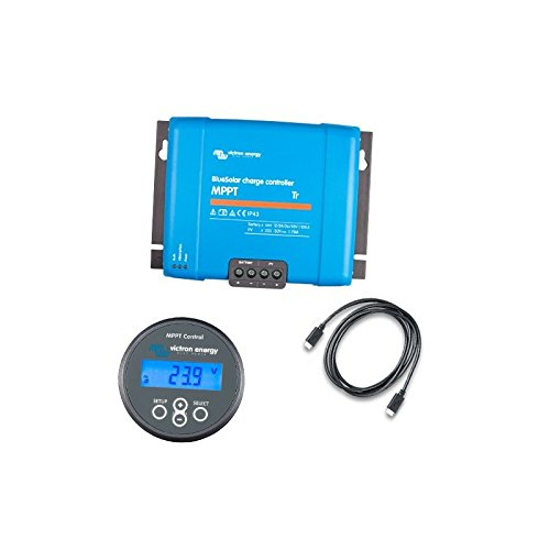 Victron Energy - Set Charge Controller BlueSolar MPPT 150/70-Tr 150VOC 70A + Display MPPT Control - SET-SCC010070200
