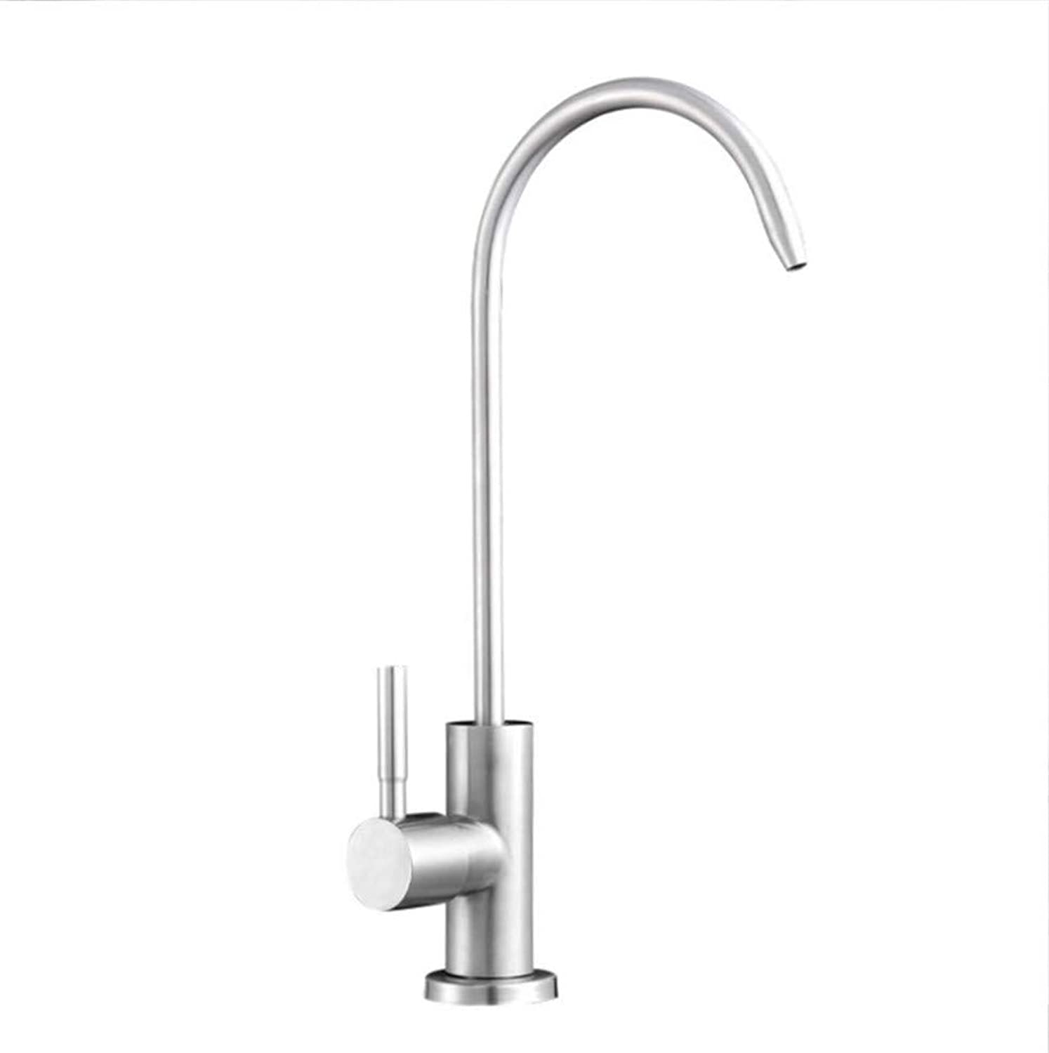 Water Tap Kitchen Taps Faucet Modern Kitchen Sink Taps Stainless Steel304 Stainless Steel Single-Cold Kitchen Faucet