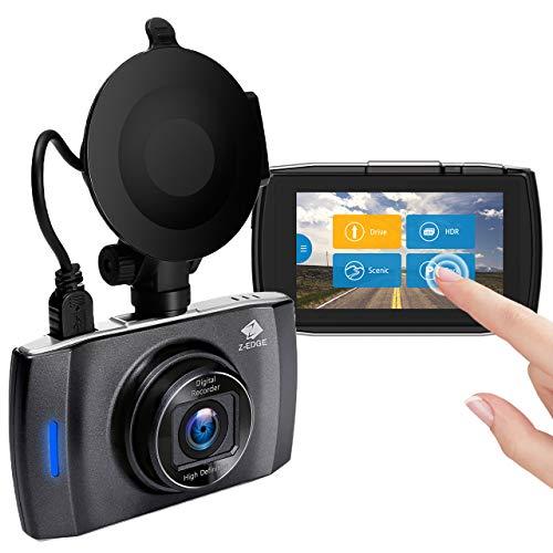 Z-Edge GPS Dashcam Full HD 1080P 3,0 Zoll LCD Touchscreen Autokamera, 150° Weitwinkel, Loop-Aufnahme, HDR, G-Sensor, Bewegungserkennung, Parkmodus, inkl. Kfz Ladegerät