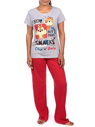 Disney Pijama para Mujer Chip y Chop Gris Size Small