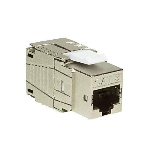 Faconet® Keystone CAT 8.1 Netzwerk RJ45 LAN Einbaubuchse voll geschirmt, werkzeuglos, kleine Bauform, Jack toolless STP