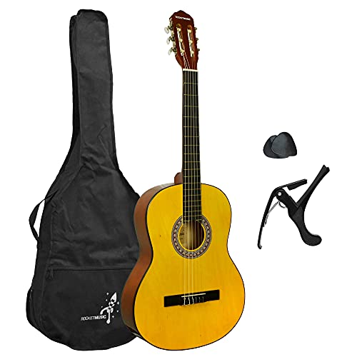 Rocket XF201AN XF Serie - Guitarra española clásica,...