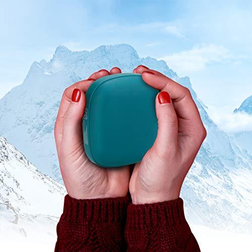 Achort Calentadores de Manos USB Recargables 5000mAh Mini Cargador, 8 Horas de...
