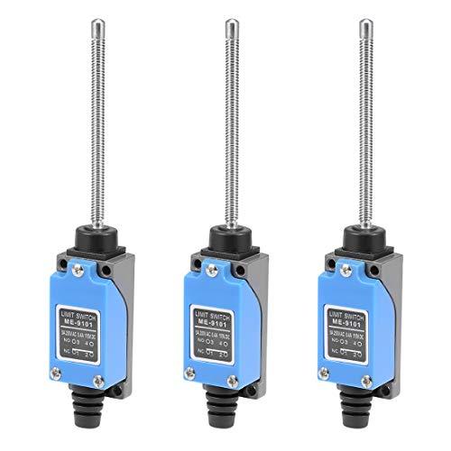 sourcing map ME-8166 ME-9101 ME-8167 Endschalter CNC Mühle Laser Plasma mit Doppelrohrblatt 9101(8167) (3Pcs)