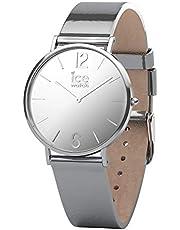 Ice-Watch - CITY sparkling - Metal Silver - Women's Wristwatch met leren riem - 015089 (Small)